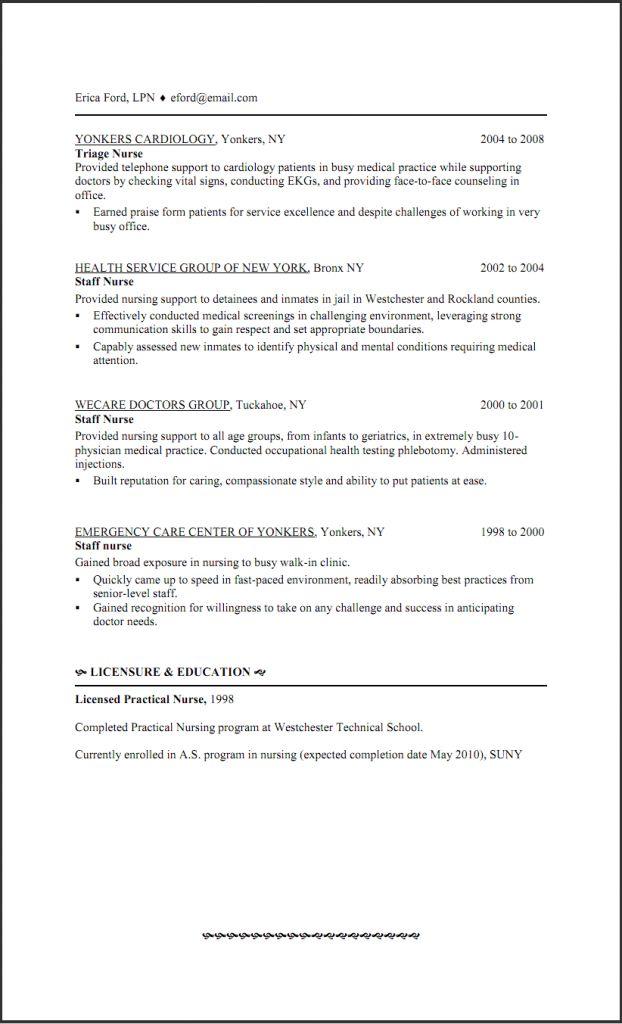 Lpn Resume Template Free Licensed Practical Nurse