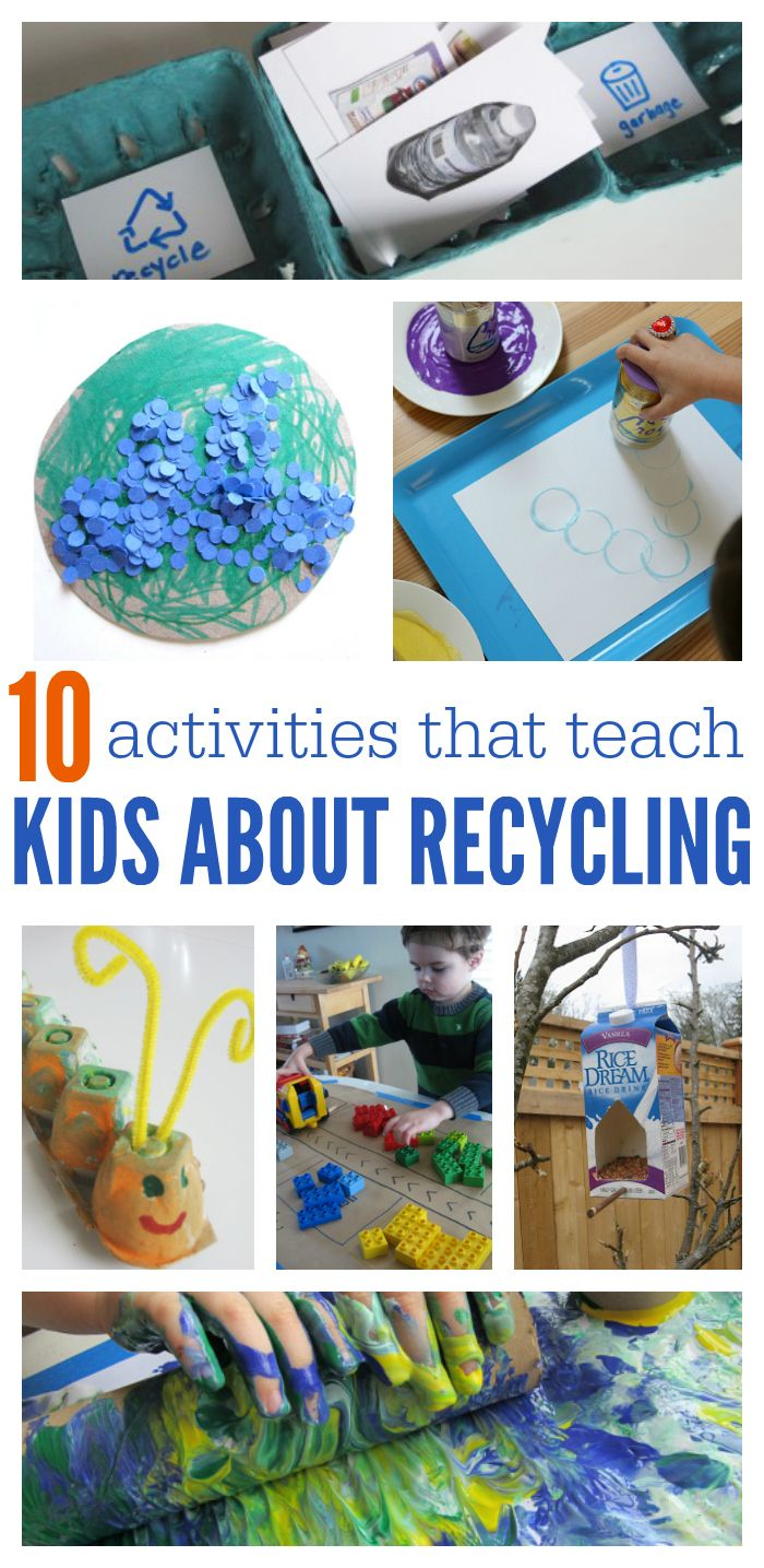10 Activities That Teach Kids About Recycling - No Time For Flash Cards