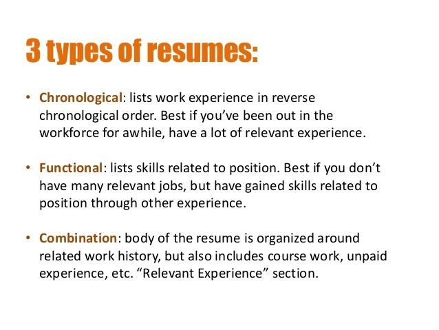 types of resumes formats hitecauto - 3 types of resumes