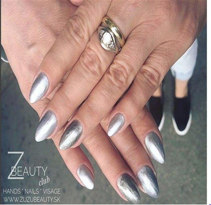 30+ Stunning Silver Nail Designs Trends – Fashonails