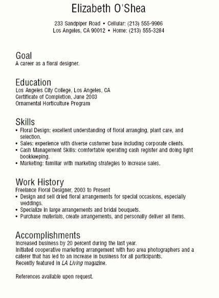 freelance writer resume template