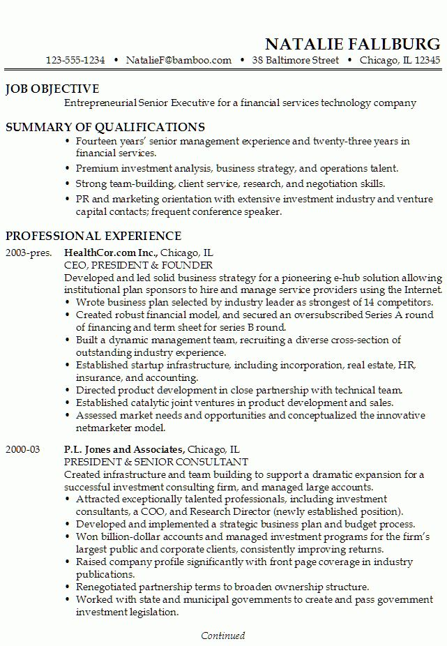 Self Employment On Resume Example - Examples of Resumes