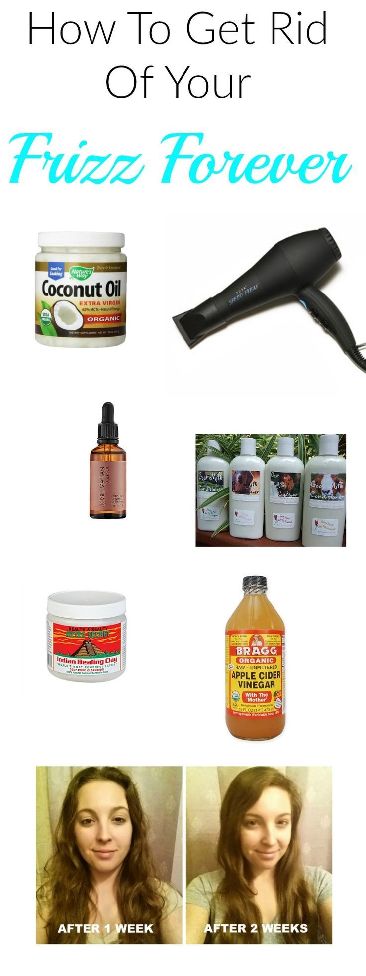 How To Get Rid Of Your Frizz Forever. Great find! I have battled with frizzy hair for years and wasted hundreds of dollars trying to find something that will permanently get rid of it. Salon products only fix it temporarily and I still have to put so much time into doing my hair. I would love to just be lazy and still look cute. I'm so excited to try this conditioner after reading all of the raving reviews about it!