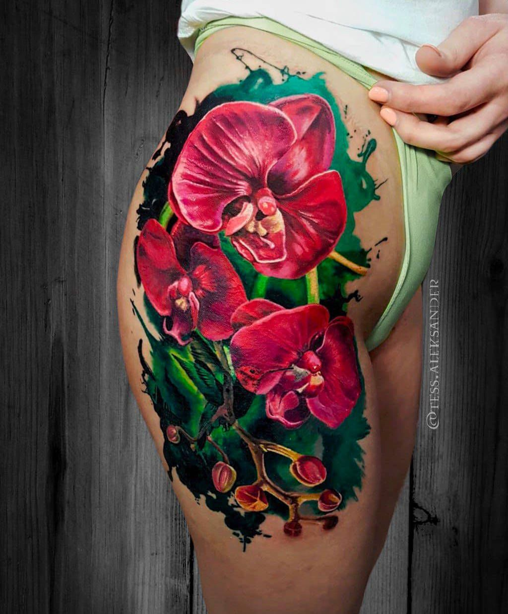 Red Orchids Tattoo