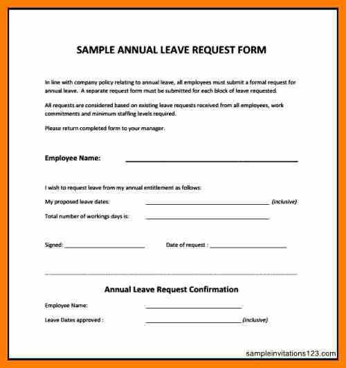 Leave Forms Template | Templatexample.unicloud.pl  Leave Request Template