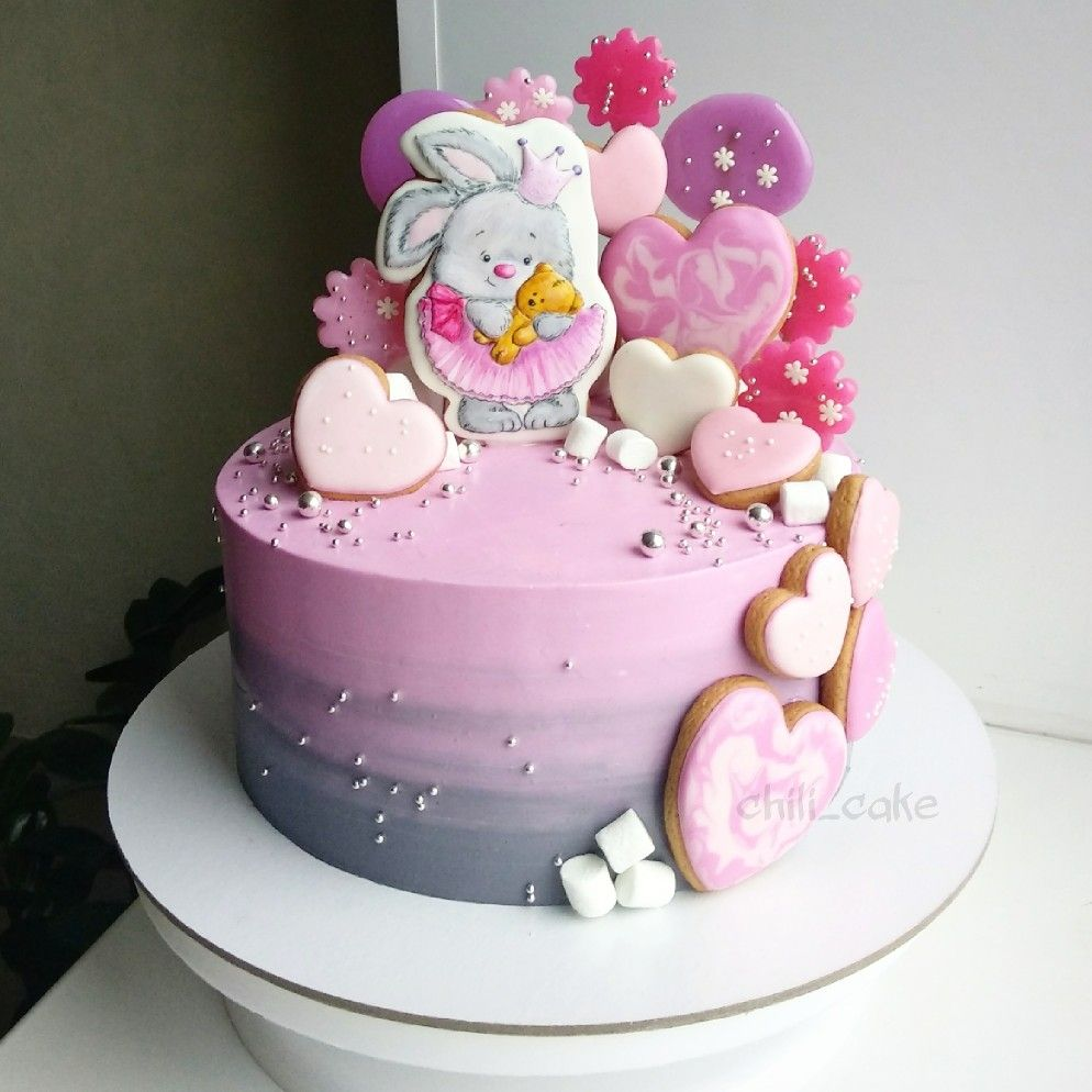 Торт для девочки. Детский торт с зайчиком   Торт на день ...