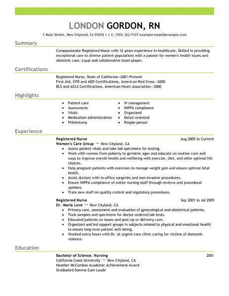 Rn Sample Resume Nursing Resume Sample Writing Guide Resume - mental health nurse resume