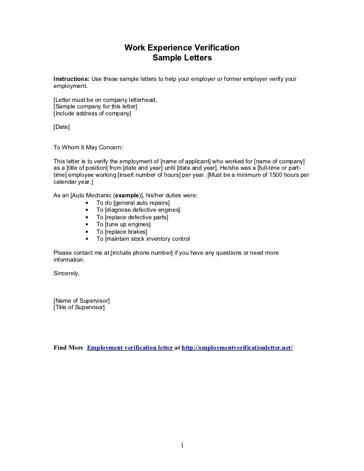 Letter Of Work Experience Job Experience Letter Format 1 - job experience examples