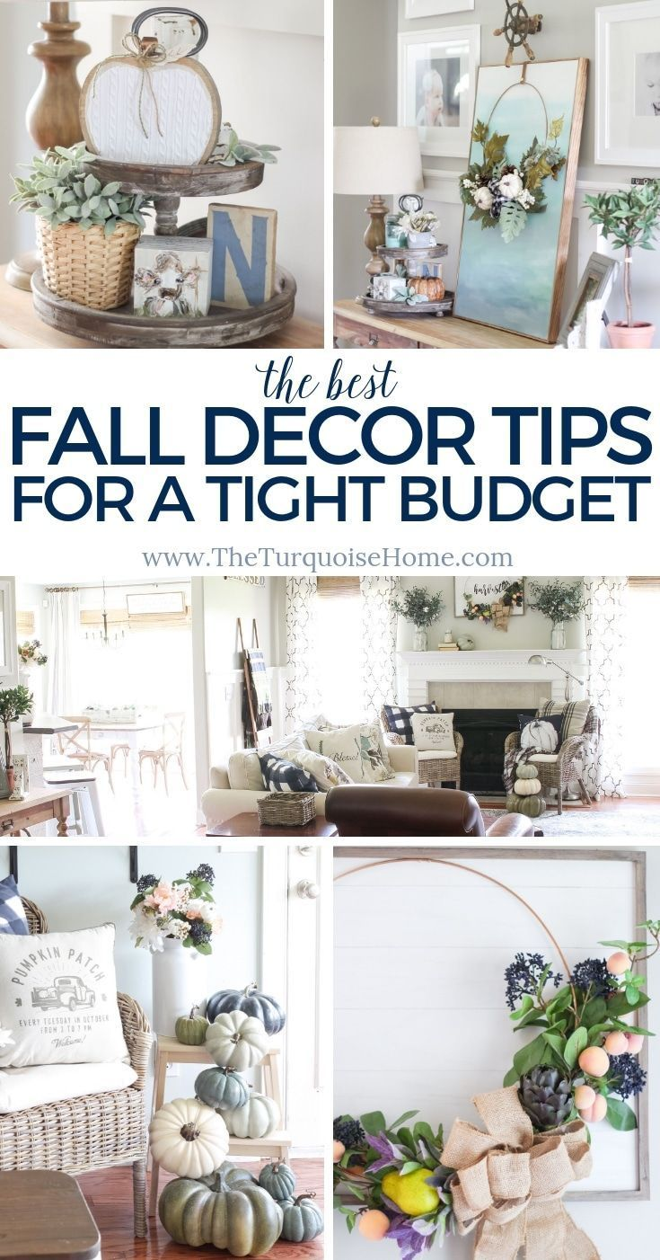 The Best Fall Decor Tips for a Tight Budget!   Budget-friendly Fall Decorating Ideas   Fall Home Tour 2018