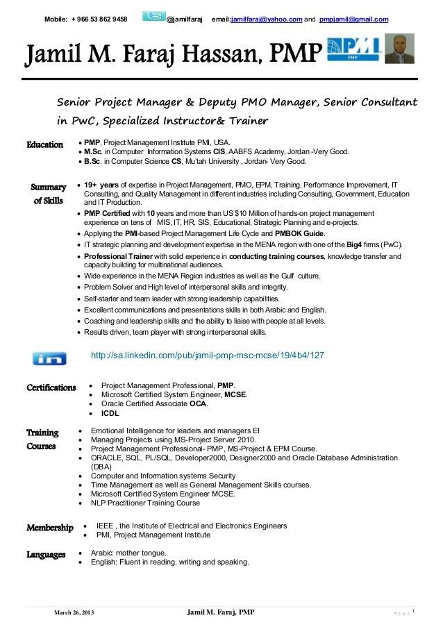pmp sample resume sample management consultant resume pmp resume pmo director resume - Pmo Resume Sample