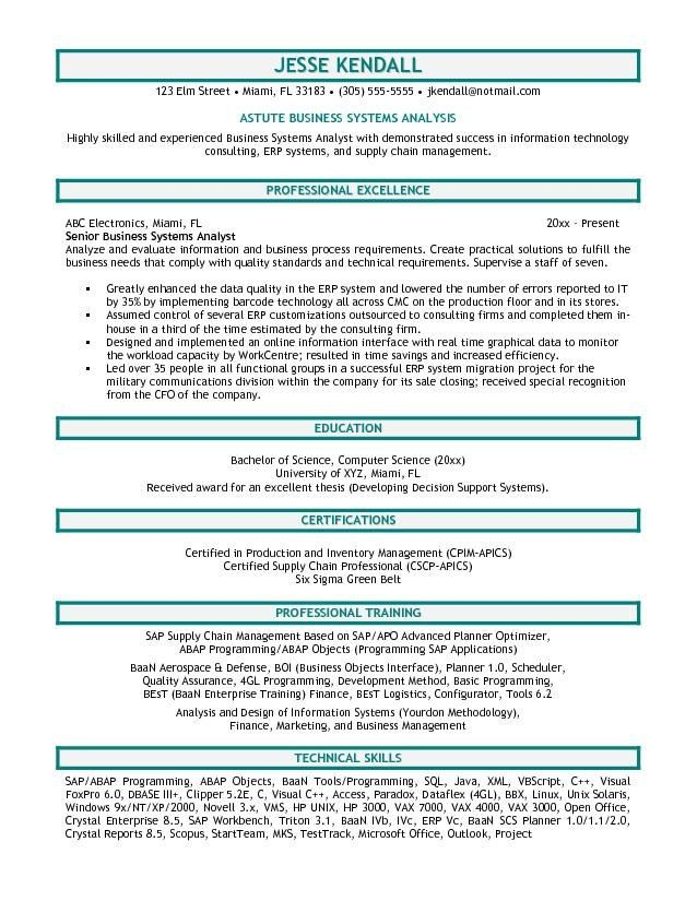 sample business analyst cover letters