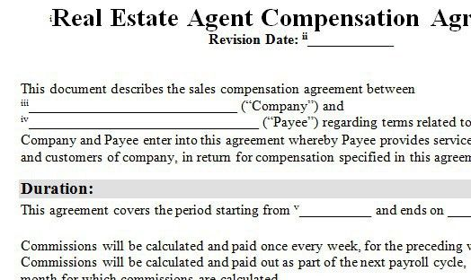 commission agreement template - 100 images - easy commission - commission contract template