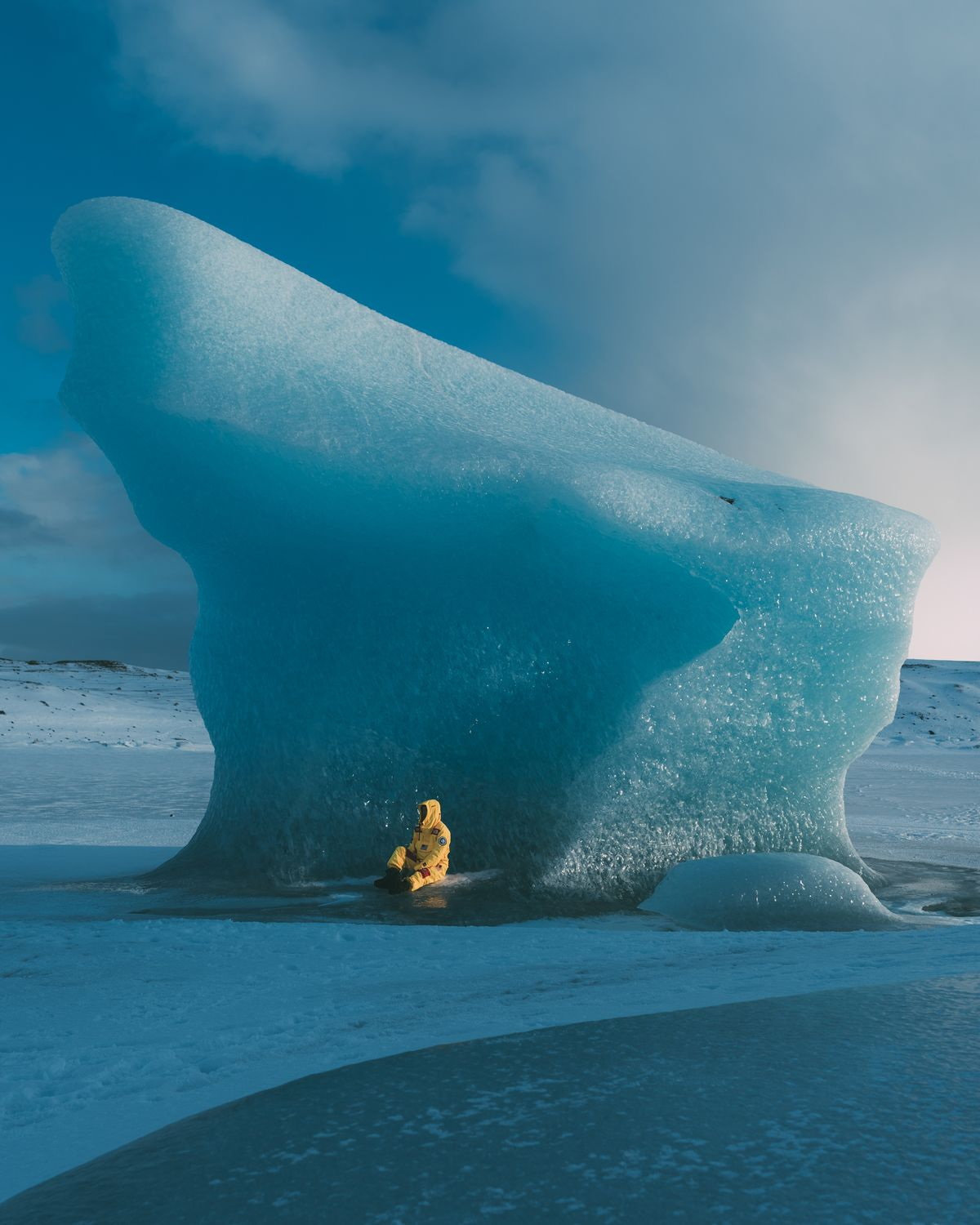 Iceland glacier photography for North Face by Andrew Ling and Connor Surdi.