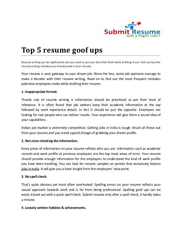 how to spell resume for job