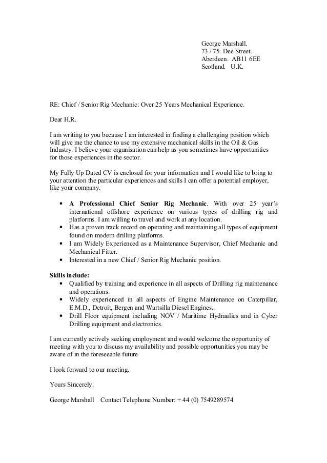 Drilling Supervisor Cover Letter Cvresumeunicloudpl