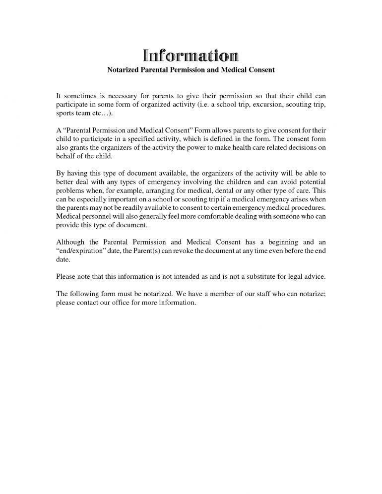 Parental Permission Letter Medical Release Forms Parent Template 10 Free  Word