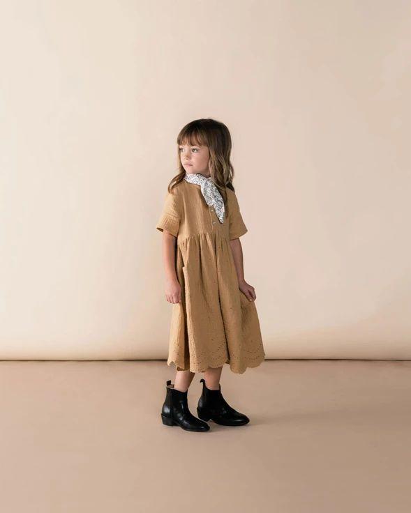Esme Cotton Eyelet Dress - Honey – bitte