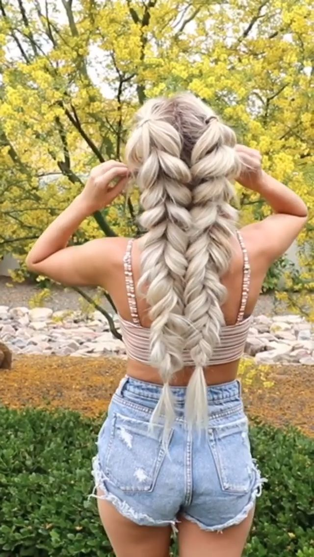 For more braid video tutorials just visit our website! #hairtutorial #braidedhair #dutchbraid #frenchbraid #fishtailbraid #hairvideo #hairtutorial