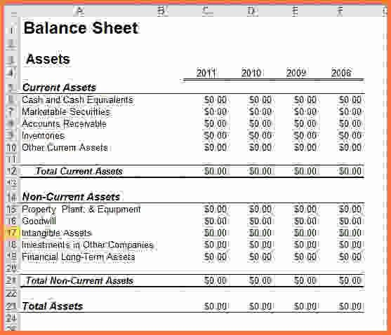 Basic Balance Sheet Format Balance Sheet Example And Format - accounting balance sheet template