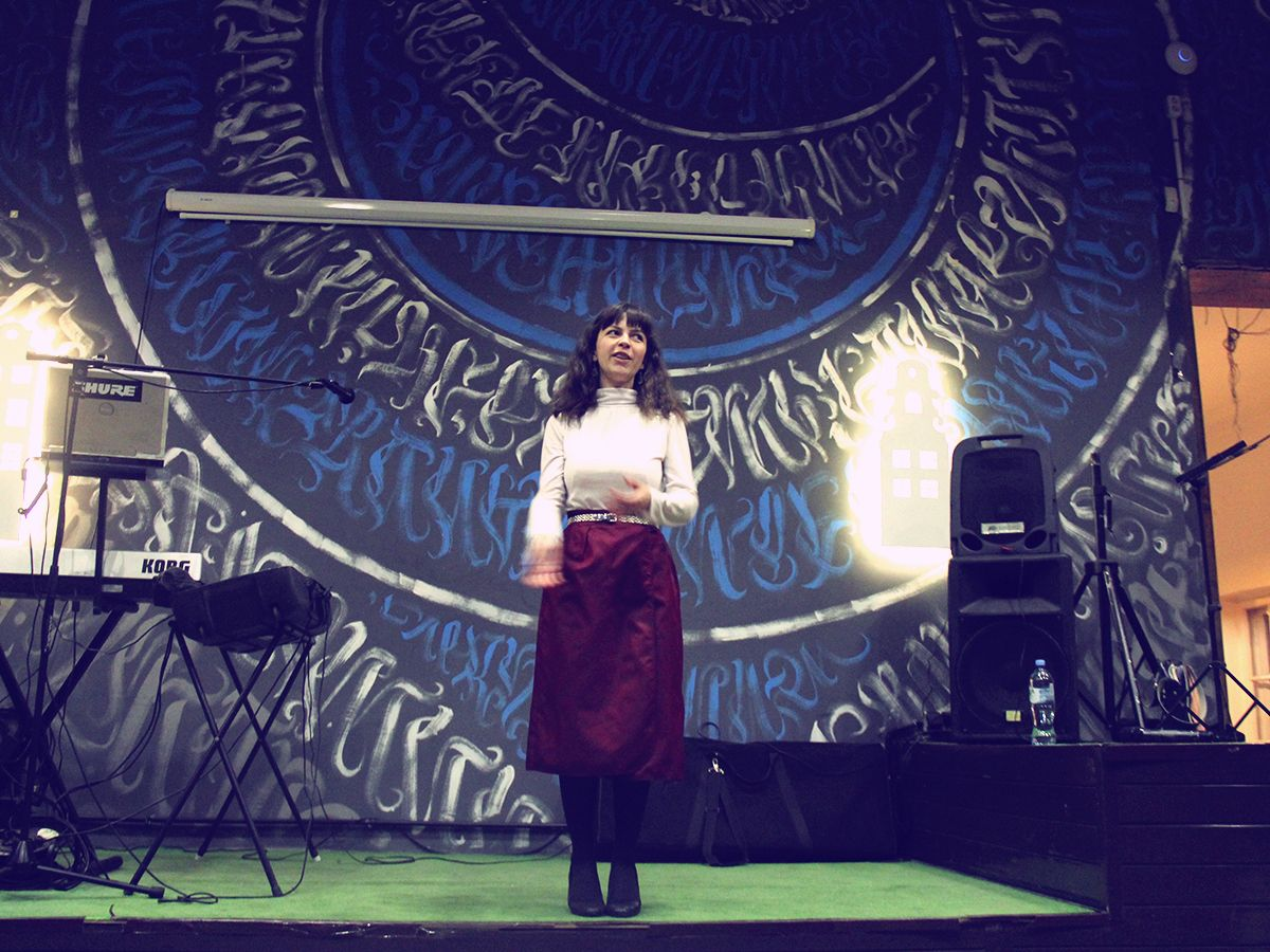 Ирина Зубарева, квартирник «Закулисье», 28 февраля 2019 г. Фото: Evgeniya Shveda