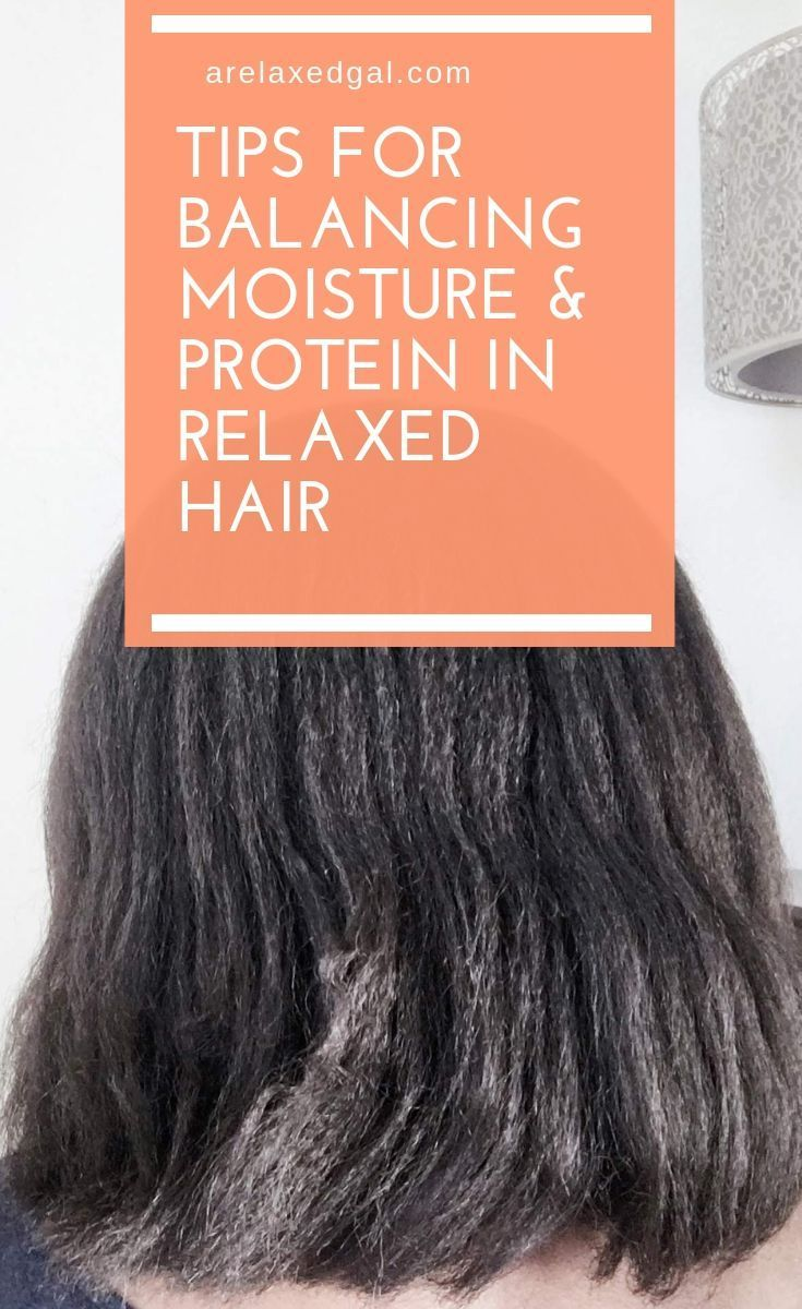 Moisture and protein are two important parts of hair care so it's important to keep them balanced. In this post A Relaxed Gal shares signs of a moisture/protein imbalance and some ways to correct it. | A Relaxed Gal #relaxedhair #healthyhair #balancedhair #moisturizedhair #hairtip