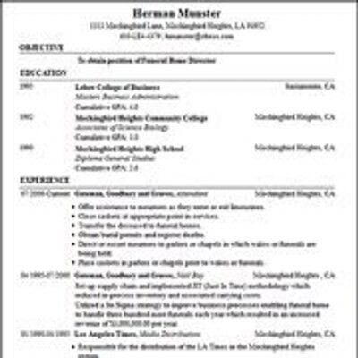 resume builder free no sign up