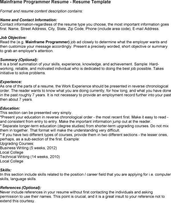 specific language programmer resume specific language programmer - Specific Language Programmer Resume