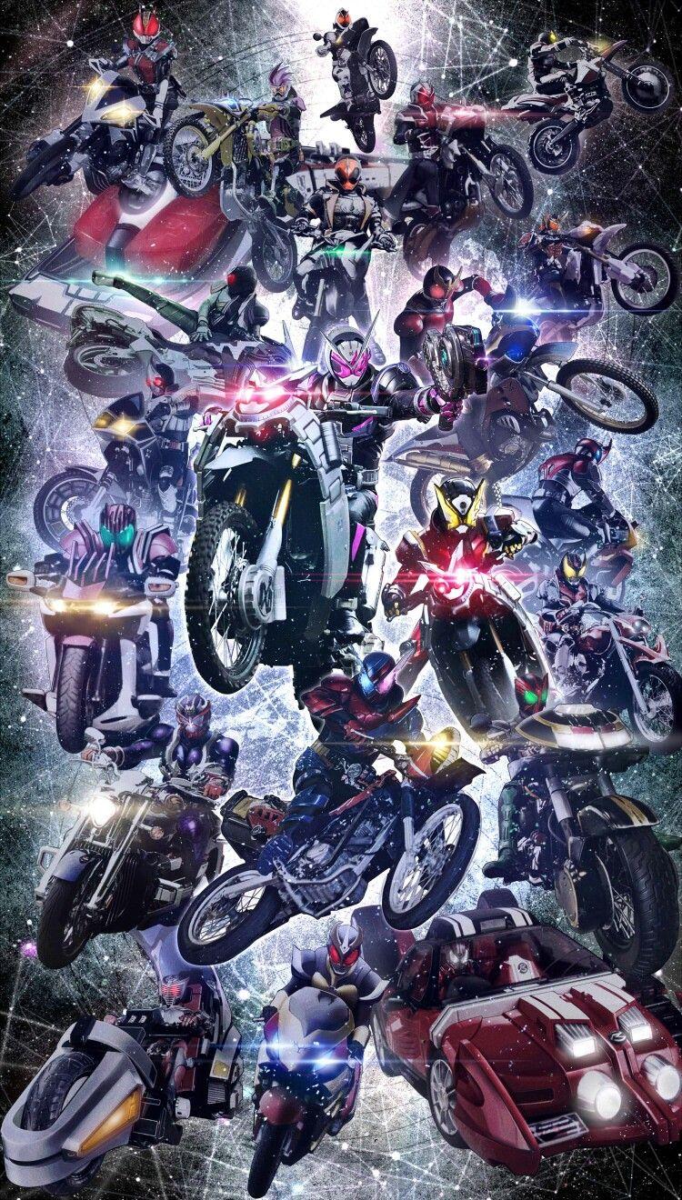 Heisei Rider Bike and Car Kamen rider, Anime, Ảnh tường