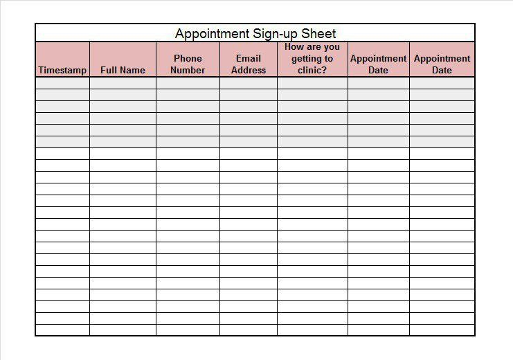 Sign In Sheet Template Word Printable Sign In Sheet Visitor Class - meeting sign in sheet