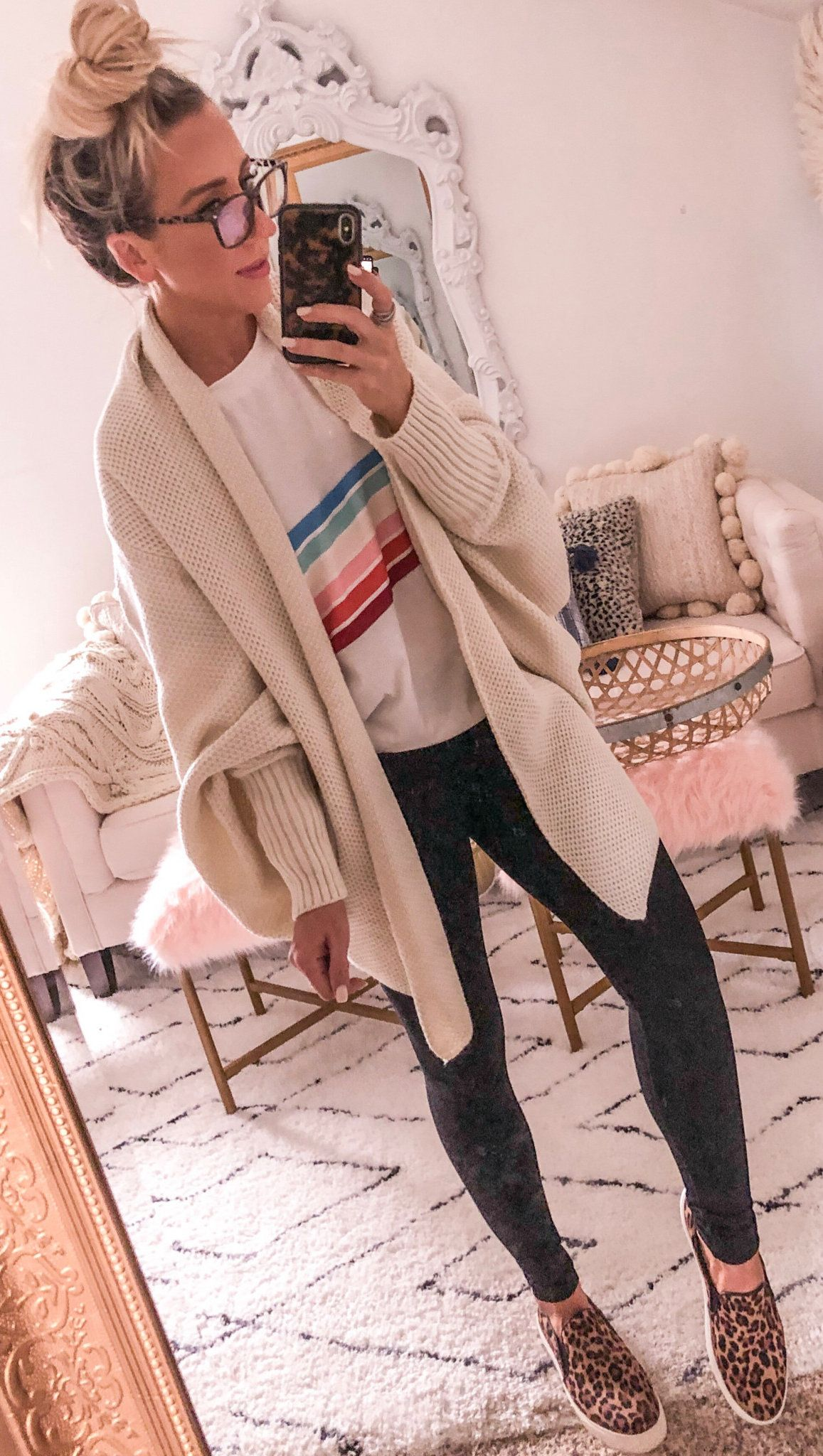 white open-front cardigan #spring #outfits