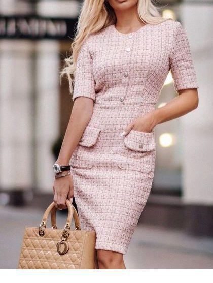 Light pink dress for work