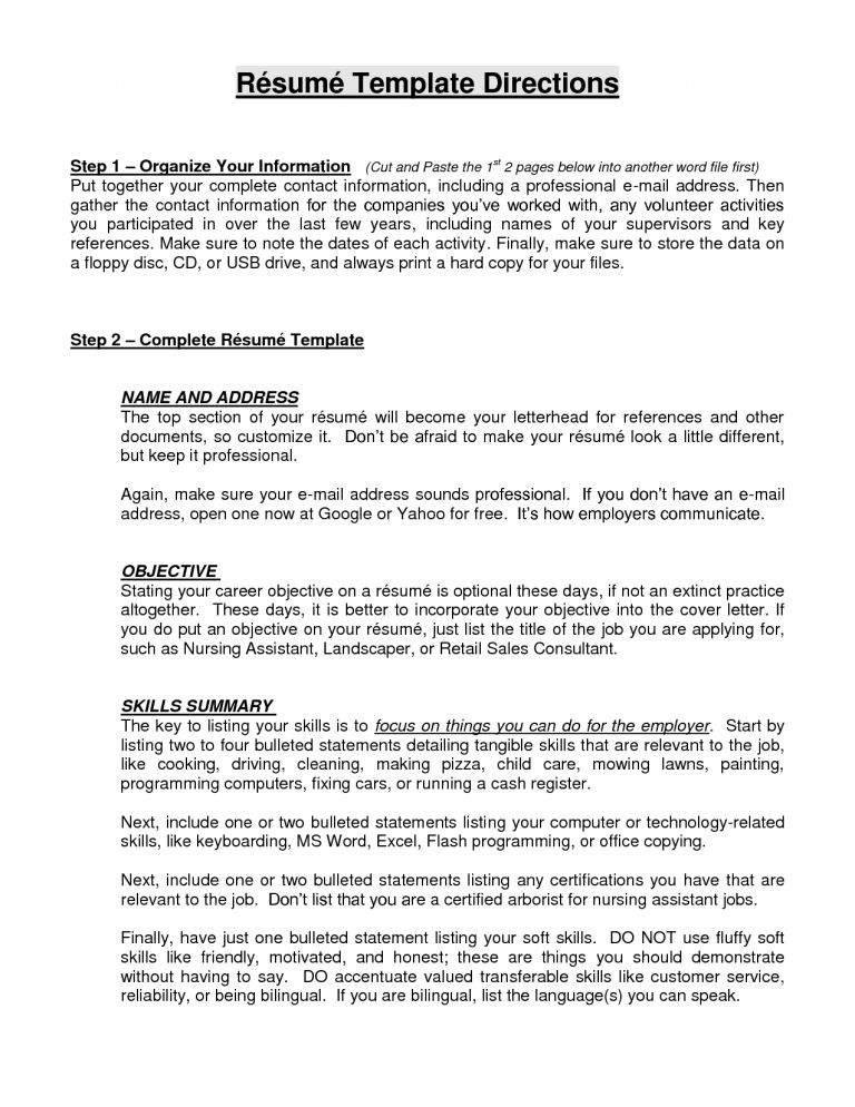 resume without objective 6 how to write a work experience resume