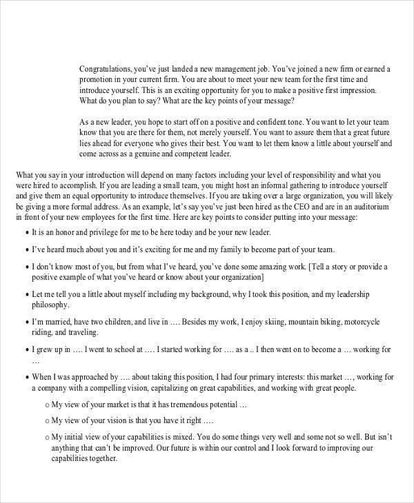 Introduction Speech Example 5 Introduction Speech Examples - speech examples