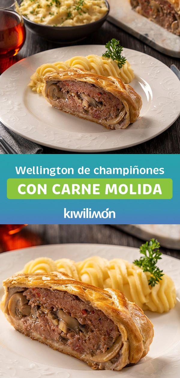 Wellington de Champiñones con Carne Molida