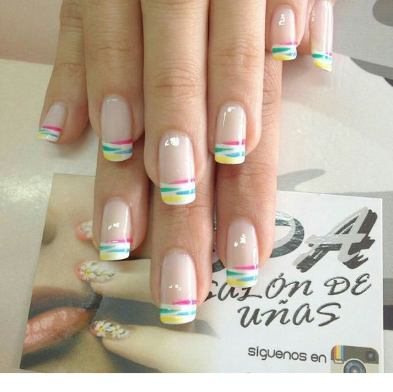 Sweet colorful tips