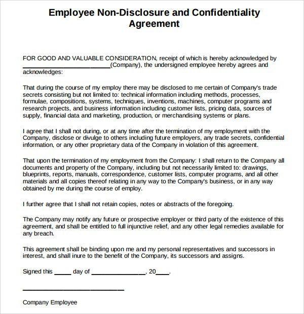 Trade Agreement Sample Mexico Nicaragua Free Trade Agreement - sample employee confidentiality agreement