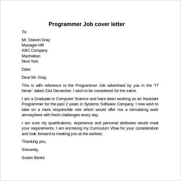 ... Sample Cover Letter Programmer Computer Programmer Cover Letter   Sas  Programmer Cover Letter ...