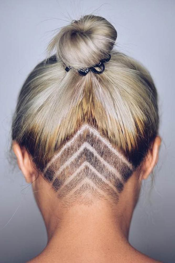 Extreme Undercut Tattoos For Long Hiar #blondehair #shavedhair ★  Undercut women hair styles are super daring, and that is why not every babe can pull one off. But if you are an artistic person or a tomboy we are sure that you can sport an undercut. See the trendiest undercuts here. #glaminati #lifestyle #undercutwomen