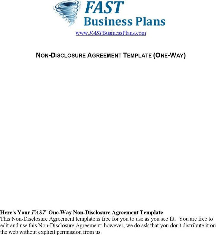 20 word non disclosure agreement templates free download free - non disclosure agreement form