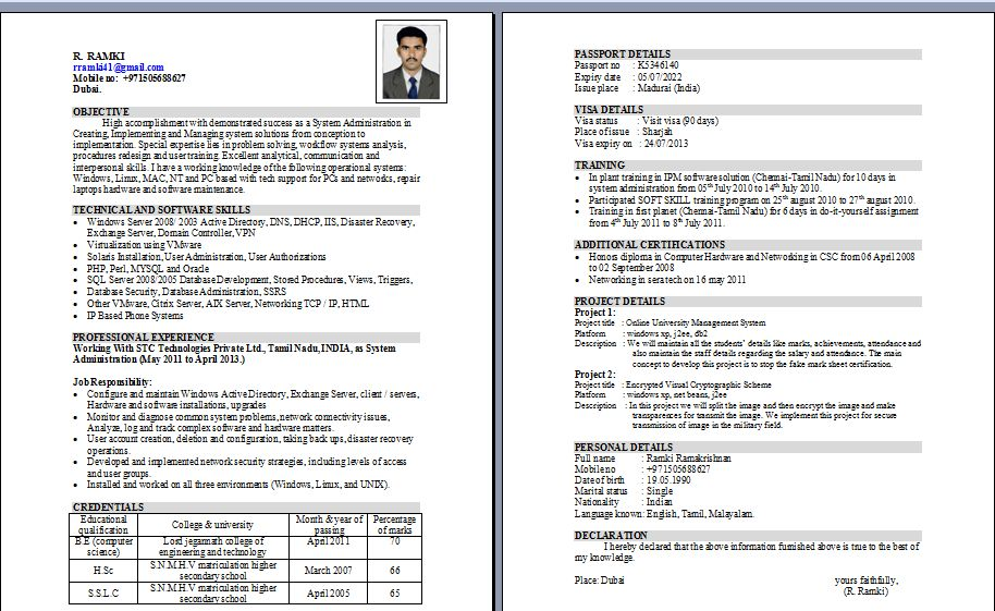 Unix Administrator Resume Administration Sample Resume