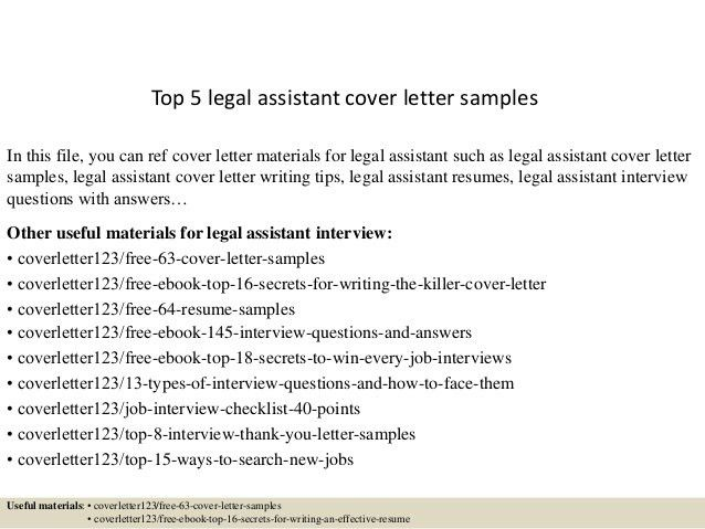 Legal Cover Letter Best Legal Assistant Cover Letter Examples - legal assistant resume