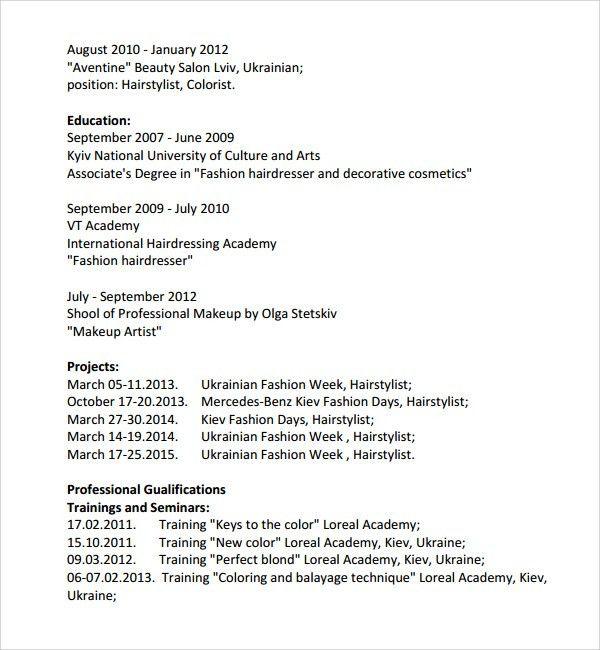 hairdresser resume node2001-cvresumepaasprovider