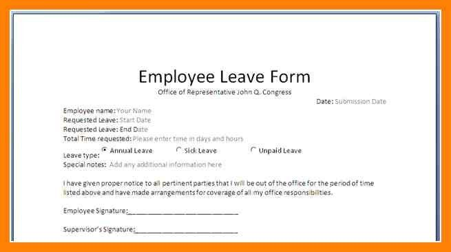 Application For Leave Format For Leave Extension Format And - application for leave