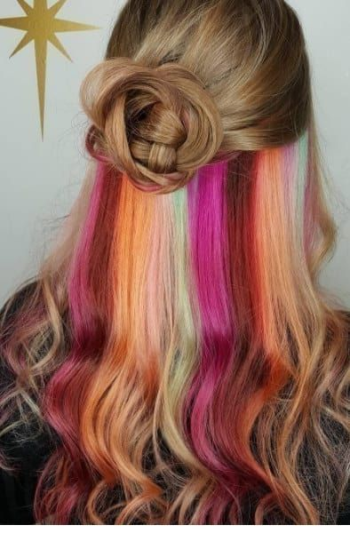 Cool secret rainbow hair colors
