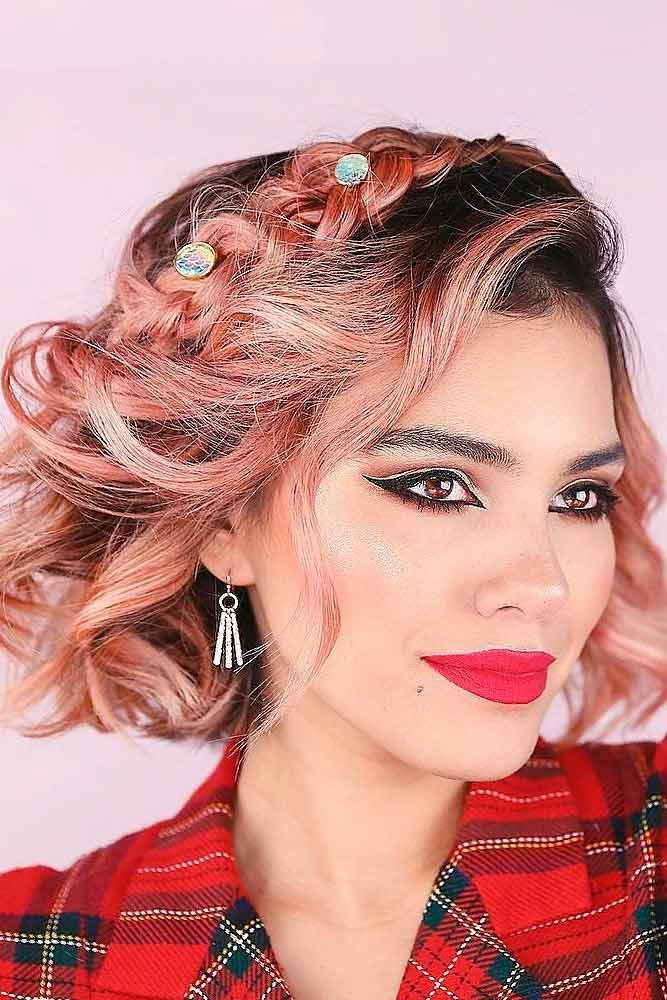 Amazing Braided Half-Up #braidedhairstyles #lobhairstyles ★ Sexy short hairstyles are the answer for those who wonder which type of haircut is the best. Forget about waking up earlier only to fix your hair! #glaminati #lifestyle  #shorthairstyles