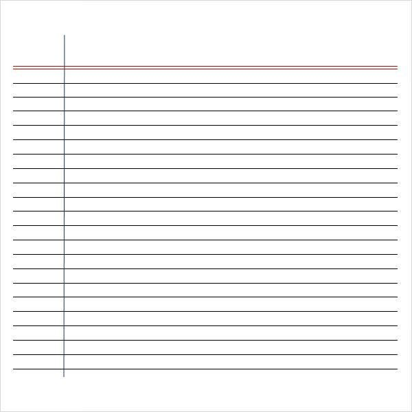 Writing Paper Template Printable Writing Paper 6 Free Documents - lined paper pdf