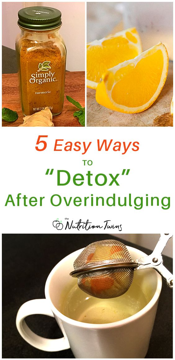 "5 Easy Ways To ""Detox"" After Overindulging 