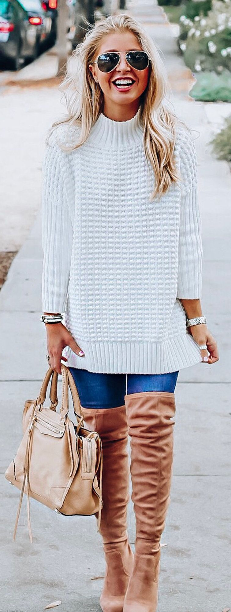 white and blue stripe dress #winter #outfits