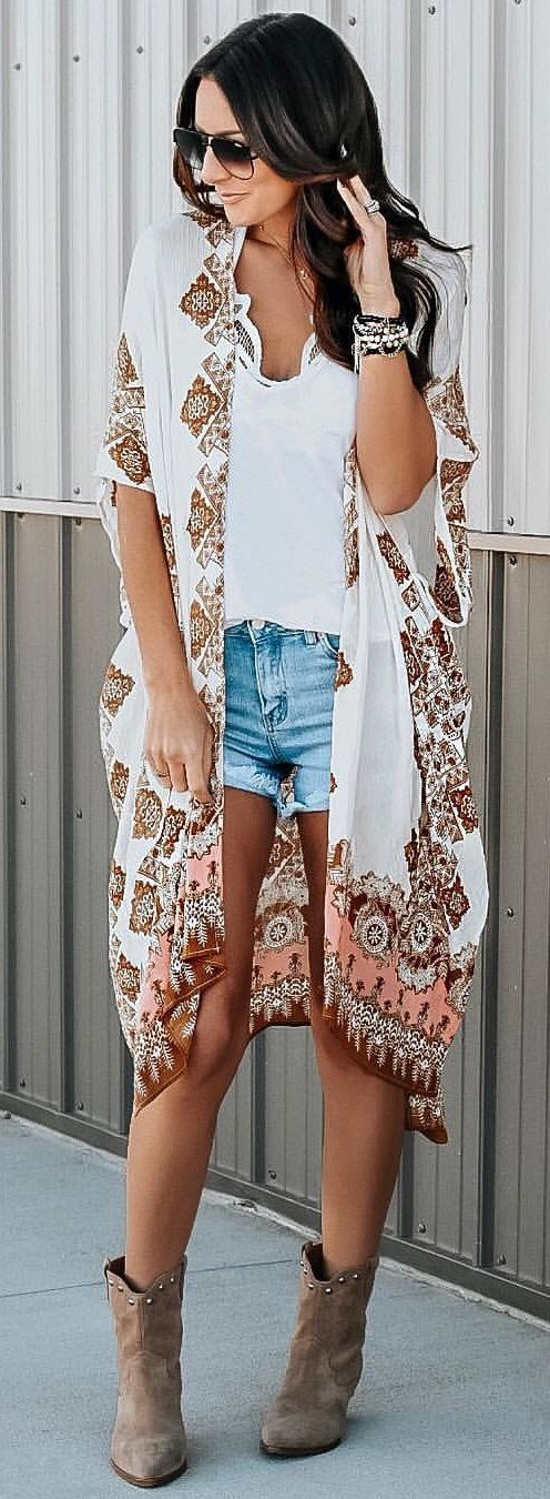 white and brown floral dress #winter #outfits