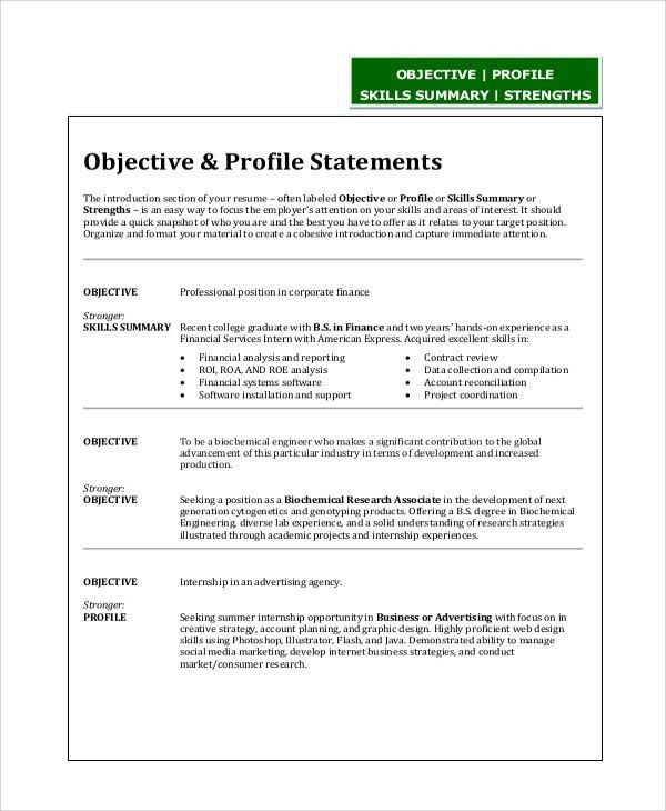 Objective Statements On Resumes Resume Example How To